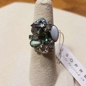 Sorrelli New Adjustable Ring from Pebble Blue coll